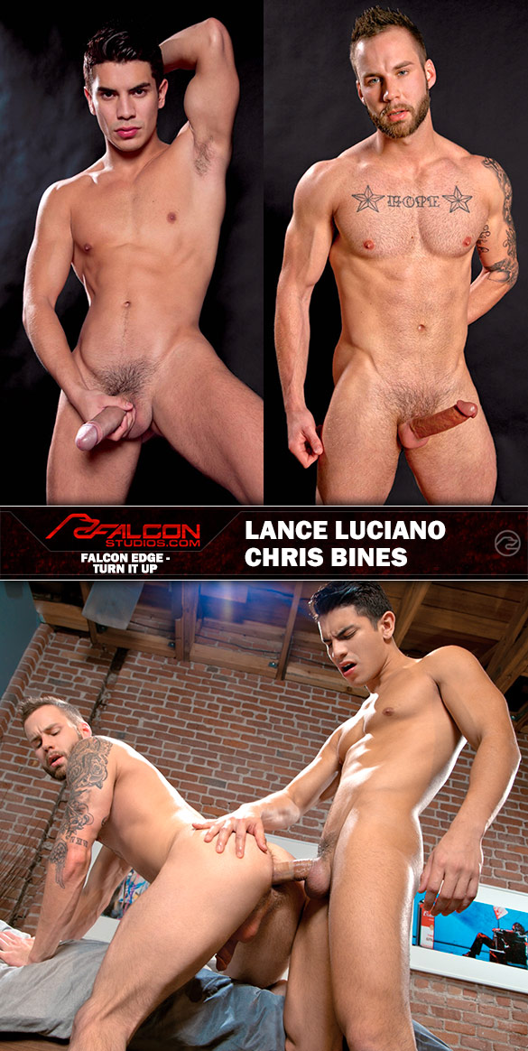 "Falcon Studios: Lance Luciano bangs Chris Bines in ""Turn It Up"""