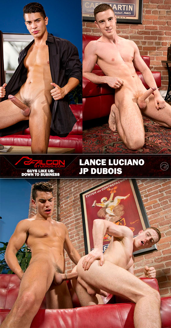 "Falcon Studios: Lance Luciano fucks JP Dubois in ""Guys Like Us: Down To Business"""