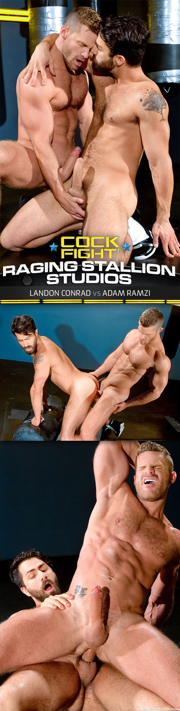 "Raging Stallion: Landon Conrad and Adam Ramzi flip fuck in ""Cock Fight!"""