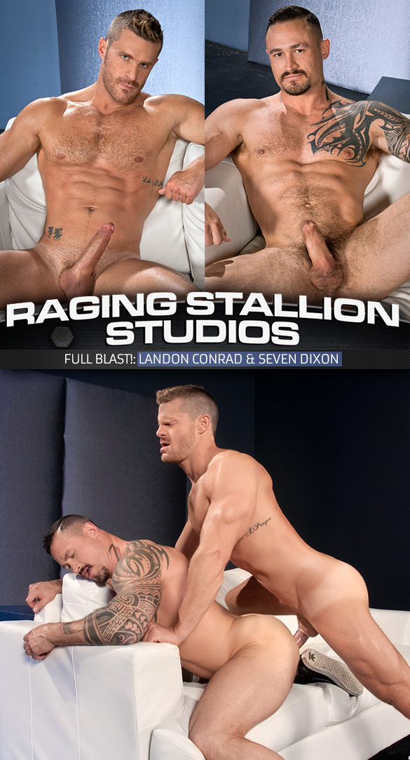 "Raging Stallion: Landon Conrad pounds Seven Dixon in ""Full Blast!"""