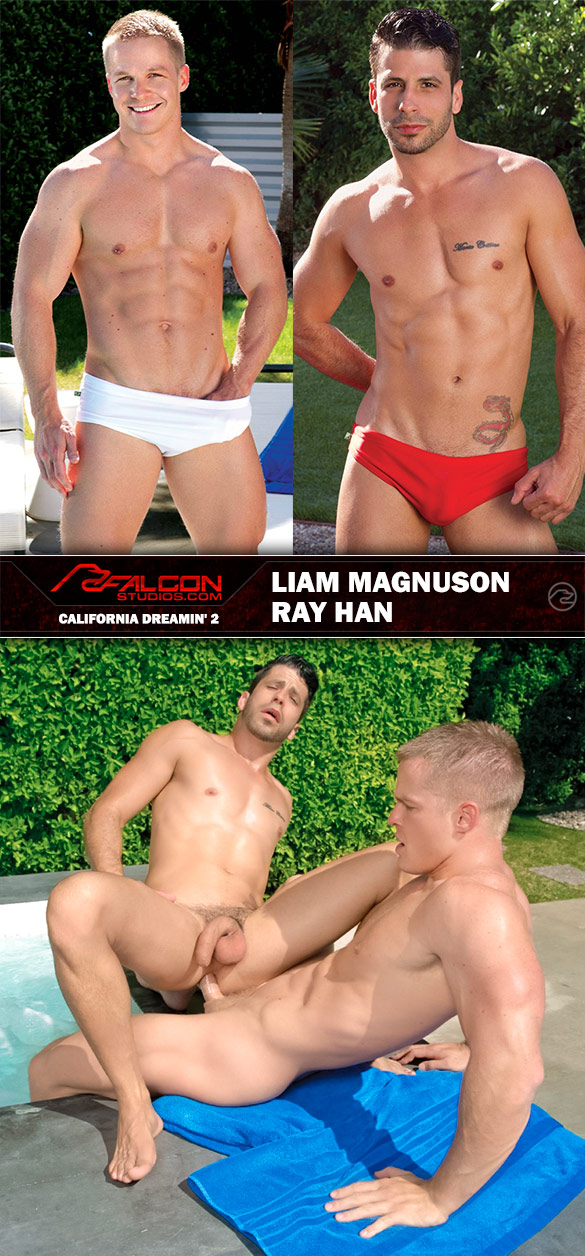 "Falcon Studios: Ray Han gets pounded by Liam Magnuson in ""California Dreamin' 2"""