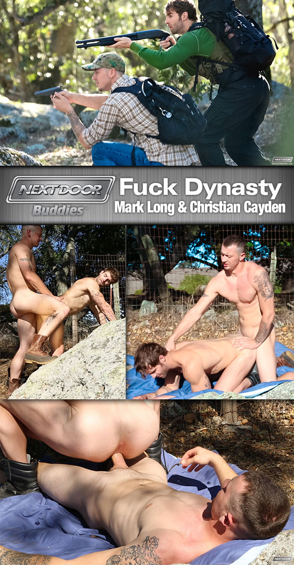 "Next Door Buddies: Mark Long barebacks Christian Cayden in ""Fuck Dynasty"""