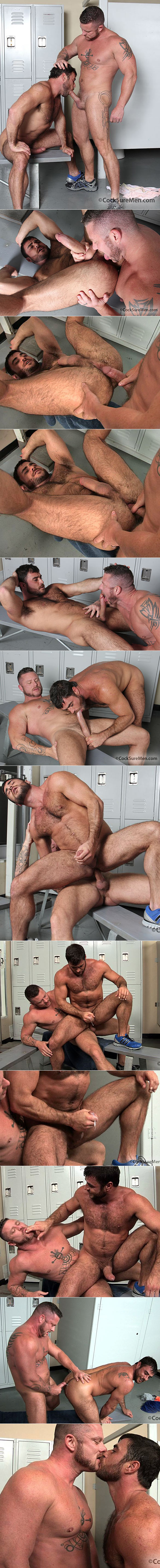 CocksureMen: Charlie Harding barebacks Mike Dozer