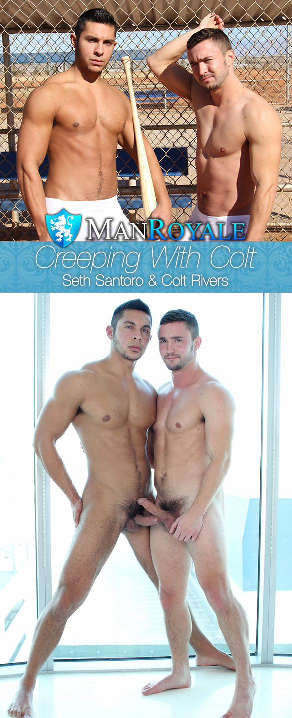"ManRoyale: Colt Rivers and Seth Santoro flip fuck in ""Creeping With Colt"""