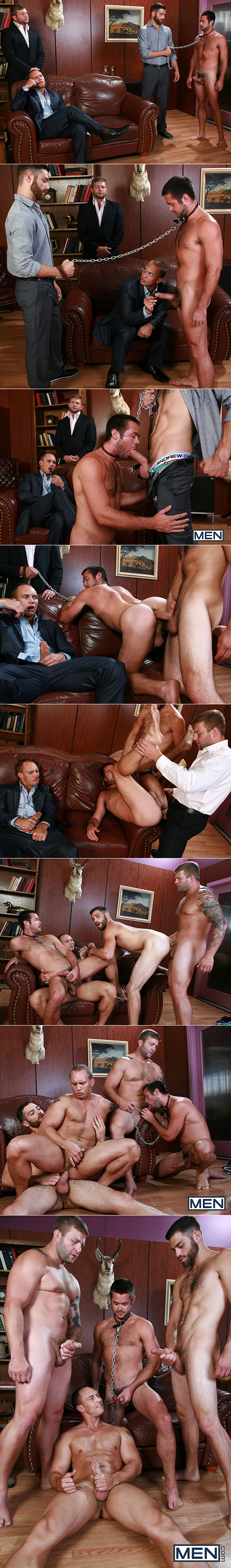 "Men.com: John Magnum, Colby Jansen, Tommy Defendi and Mike De Marko in ""Trying Out The Goods"""