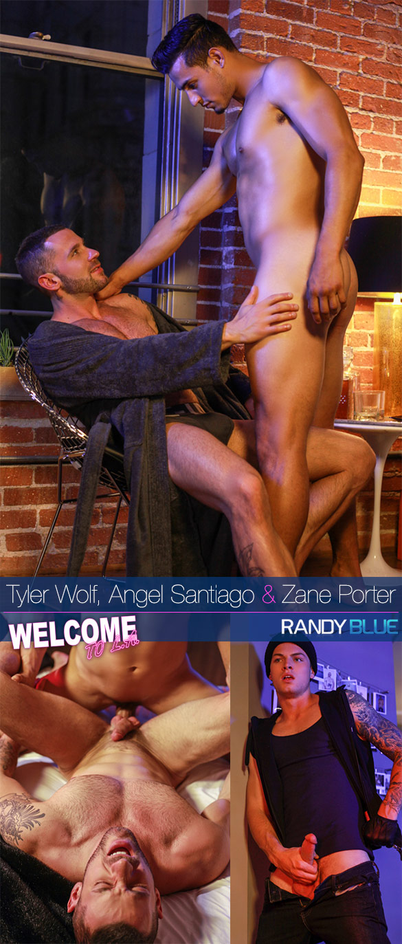 "Randy Blue: Tyler Wolf, Angel Santiago and Zane Porter in ""Welcome to L.A., Episode 6 (Downtown)"""