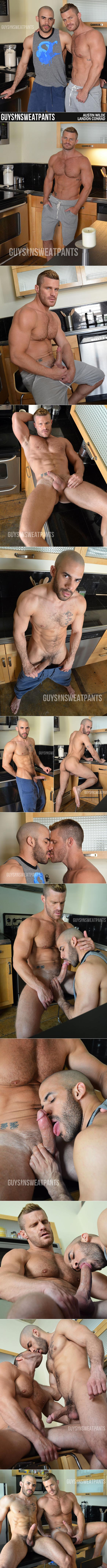 "GuysInSweatpants: Landon Conrad and Austin Wilde fuck each other in ""Do you want a blow job?"""