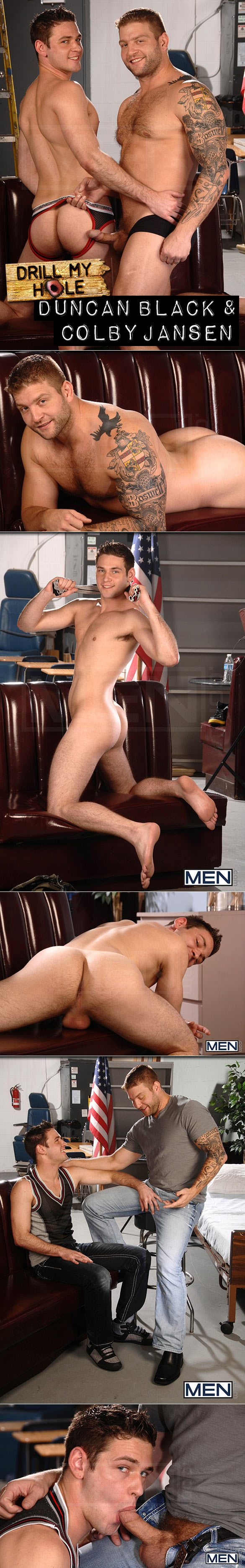 "Men.com: Duncan Black gets fucked by Colby Jansen in ""The New Exclusive"""