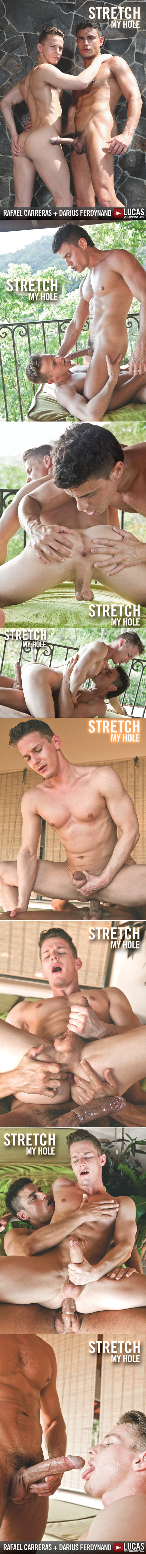 "LucasRaunch: Rafael Carreras opens up Darius Ferdynand's ass in ""Stretch My Hole"""